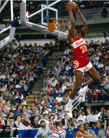 Dominique Wilkins Autographed Atlanta Hawks 16x20 Photo #1 - Reverse Slam
