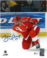 Brett Hull Autographed Detroit Red Wings 8x10 Photo #2 - Slapshot