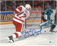 Brett Hull Autographed Detroit Red Wings 8x10 Photo #3 - 700th Goal