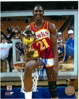 Dominique Wilkins Autographed Atlanta Hawks 8x10 Photo #5 - 1985 Slam Dunk Champion