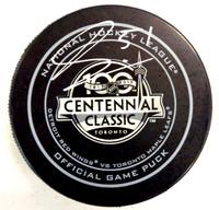 Frans Nielsen Autographed Centennial Classic Official Game Puck