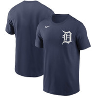 Detroit Tigers Men's Nike Navy Team Wordmark T-Shirt