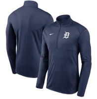 Detroit Tigers Men's Nike Navy Team Logo Element Performance Half-Zip Pullover Jacket