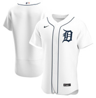 Detroit Tigers Men's Nike White Home 2020 Authentic Official Team Jersey