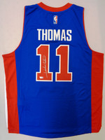 Isiah Thomas Autographed Adidas Blue Replica Jersey (Pre-Order)