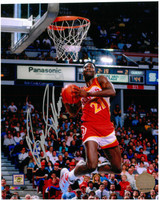 Dominique Wilkins Autographed Atlanta Hawks 8x10 Photo #3 - High Above The Rim