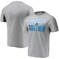 Detroit Lions Men's Stronger Together Fanatics Space Dye T-Shirt - Gray