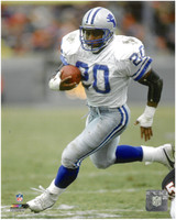 Barry Sanders Autographed 8x10 Photo #5 - White Jersey Action (Pre-Order)