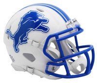 Barry Sanders Autographed Detroit Lions Riddell Full Size Replica White Matte Speed Football Helmet (Pre-Order)