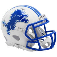 Barry Sanders Autographed Detroit Lions Riddell Full Size Authentic White Matte Speed Football Helmet (Pre-Order)