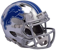Barry Sanders Autographed Detroit Lions Riddell Chrome Mini Football Helmet (Pre-Order)