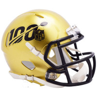Barry Sanders Autographed Detroit Lions Mini NFL 100th Anniversary Helmet (Pre-Order)