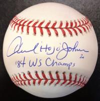 "Howard Johnson Autographed Baseball with ""Hojo"" & ""84 WS Champs"" - Official Major League Ball"