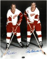 Gordie Howe & Alex Delvecchio Autographed 8x10 Photo #1
