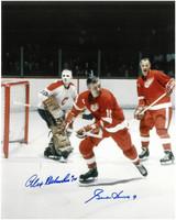 Gordie Howe & Alex Delvecchio Autographed 8x10 Photo #2