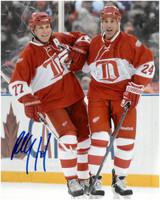 Chris Chelios & Paul Coffey Autographed Detroit Red Wings Alumni Game 8x10 Photo (Pre-Order)