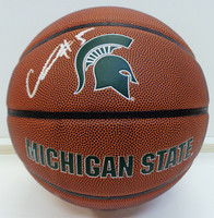 Cassius Winston Autographed Baden Brown MSU Logo Basketball