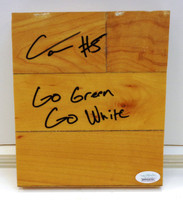 "Cassius Winston Autographed Breslin Center Floor Piece w/ ""Go Green, Go White"" Inscription"