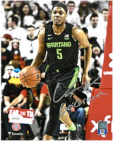 "Cassius Winston Autographed MSU 8x10 Photo  w/ ""Go Green"" Inscription #2 - Green Jersey"