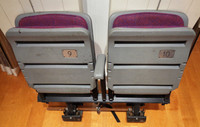 Palace of Auburn Hills Original Stadium Seats - Double with One Middle Arm