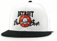 Detroit Pistons Official Bad Boys Snapback Hat - White