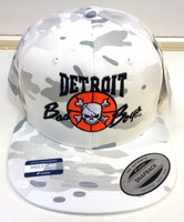 Detroit Pistons Official Bad Boys Snapback Hat - White Multicam Alpine