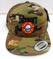 Detroit Pistons Official Bad Boys Snapback Hat - Green Multicam Alpine