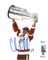 Chris Chelios Autographed Detroit Red Wings 8x10 Photo #2 - 2002 Stanley Cup