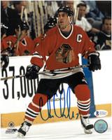 Chris Chelios Autographed Chicago Blackhawks 8x10 Photo