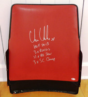 Chris Chelios Autographed Joe Louis Arena Seatback w/ Four Inscriptions