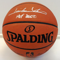 "Isiah Thomas Autographed Spalding Game Basketball w/ ""HOF 2000"""