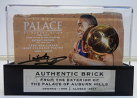 Isiah Thomas Autographed Palace of Auburn Hills Brick with Case - Tan