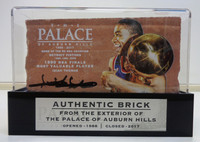 Isiah Thomas Autographed Palace of Auburn Hills Brick with Case - Rose