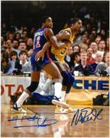 Isiah Thomas & Magic Johnson Autographed 8x10 Photo
