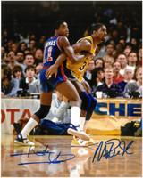 Isiah Thomas & Magic Johnson Autographed 8x10 Photo