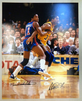 Isiah Thomas & Magic Johnson Autographed 16x20 Photo