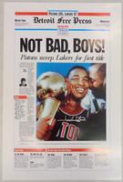 "Isiah Thomas Autographed ""Not Bad, Boys"" Free Press Poster"