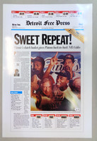 "Isiah Thomas Autographed ""Sweet Repeat"" Free Press Poster"