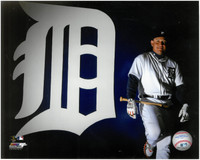 Miguel Cabrera Autographed 8x10 Photo #4 - Posed with Logo (Pre-Order)