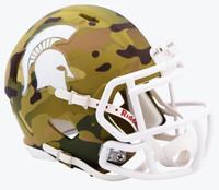 Michigan State University Mini Camo Alternate Riddell Speed Mini Football Helmet