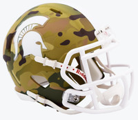 Michigan State University Mini Camo Alternate Riddell Speed Mini Football Helmet