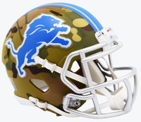 Detroit Lions Mini Camo Alternate Riddell Speed Mini Football Helmet