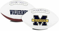 Charles Woodson Autographed Michigan Wolverines White Panel Football (Pre-Order)