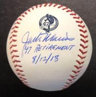 "Jack Morris Autographed Baseball - Jersey Retirement Ceremony Baseball Inscribed ""47 Retirement , 8/12/18"""