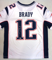 Tom Brady Autographed New England Patriots Nike Limited Jersey - White