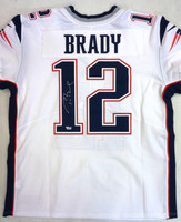Tom Brady Autographed New England Patriots Nike Elite Jersey - White