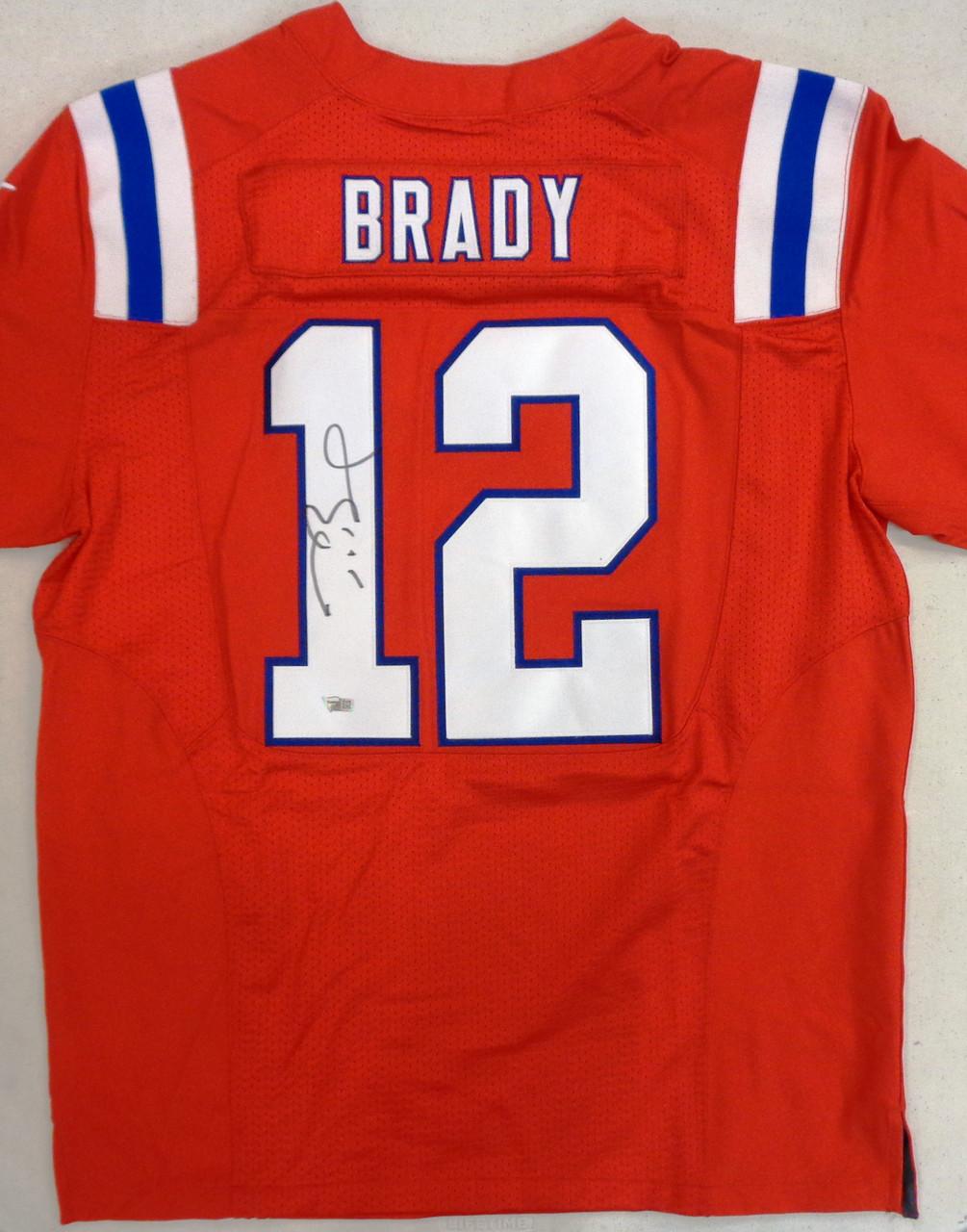 Tom Brady Autographed New England Patriots Nike Elite Jersey - Red