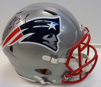 Tom Brady Autographed Riddell New England Patriots Full Size Authentic Speed Helmet
