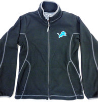 Detroit Lions Women's Antigua Black Full Zip Fleece