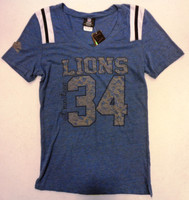 Detroit Lions Women's NFL Team Apparel Est. 1934 Blue Triblend Tshirt
